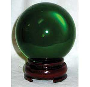 80mm Green crystal ball