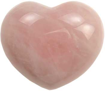 "1 3/4"" Rose Quartz heart"