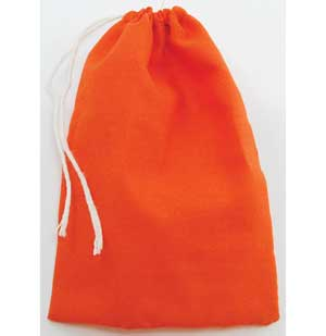 "Orange Cotton Bag 3"" x 4"""