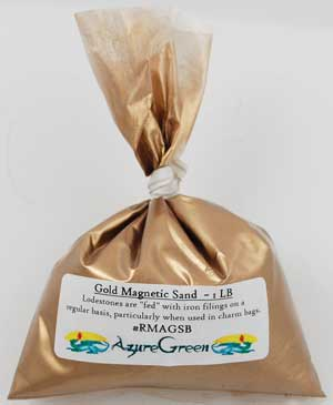 1 Lb Gold Magnetic Sand (Lodestone Food)